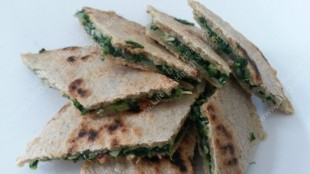 Spinach gozleme (with a few slices missing!) :P :)