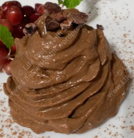 Chocolate jewelled mousse