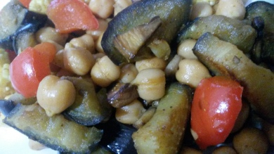 Chickpeas and aubergine! Who'd have thought!