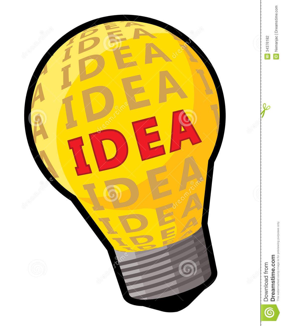 Thinking Light Bulb Clip Art Idea Bulb Concept Light Word 34376182