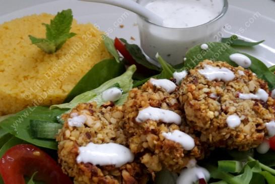 Mini nut cutlets