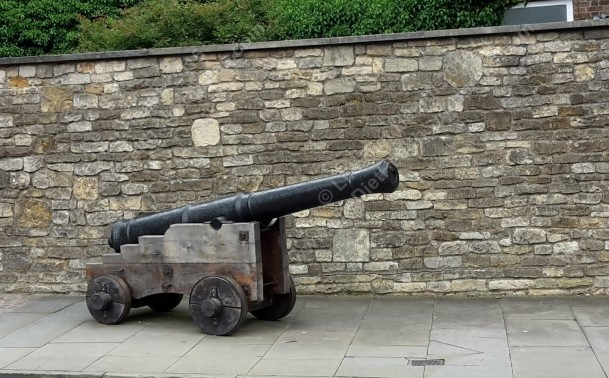 Cannon outside the castle