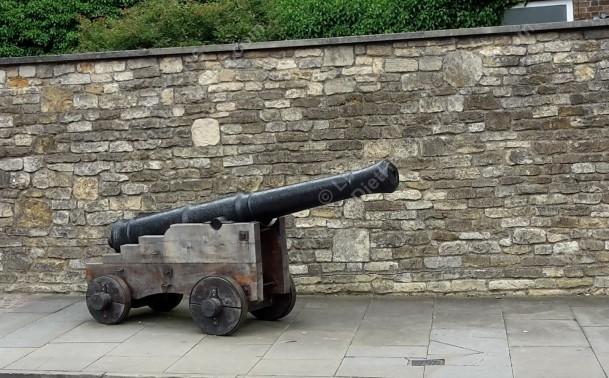 Cannon outside the castle