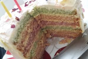 Mums birthday cake - it was very tall!