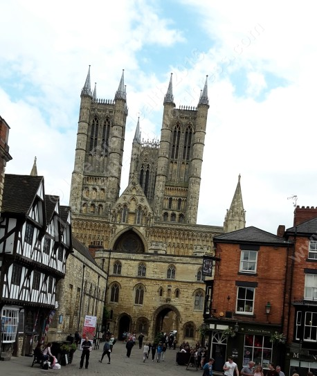 View from Lincoln Castle towards Lincoln Cathedral