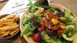 Vegan food at Nandos! Yumyum!