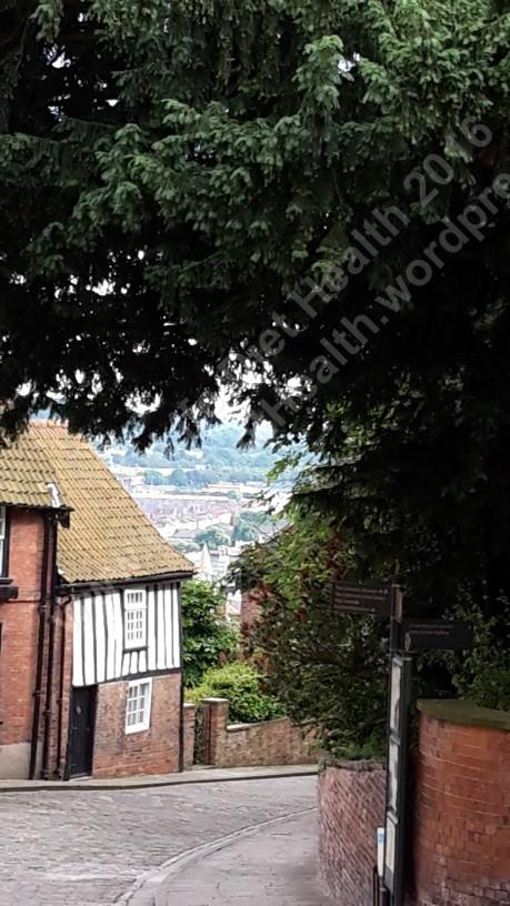 View down Steep Hill