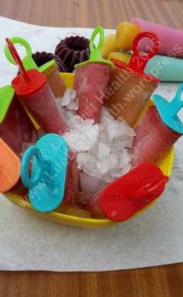 Frozen vegan lollies!