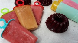 Fresh fruit lollies