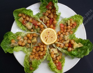 Plate of chickpea boats!