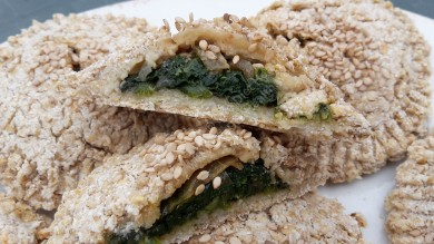 Spinach & cashew cheese filling