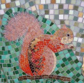 Red squirrel mosaic