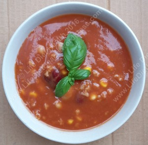 Bean soup with more base liquid