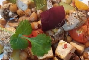 Chickpeas! and roast veg!