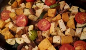 Vegetables roasting...