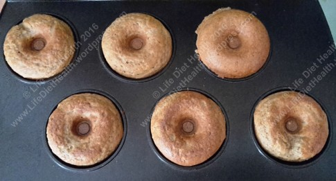 Donuts almost ready in the donut machine
