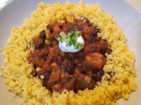 Smoky veg bean chili... yumyum!