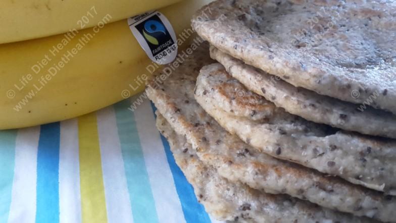 Stack of pancakes... Fairtrade bananas of course!