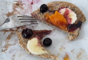 Blueberries & Persimmon fruit Pancakes