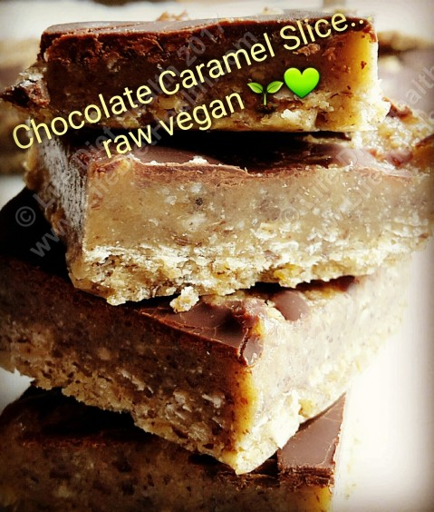 Big chunks of caramel slice