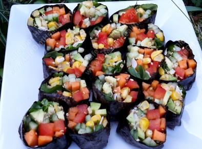 Colourful sushi