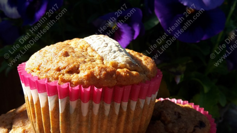 Delicious banana bread muffin