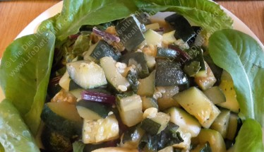 Spiced courgette & chard