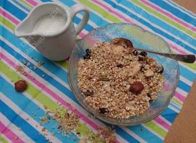 Granola with milk nomnom