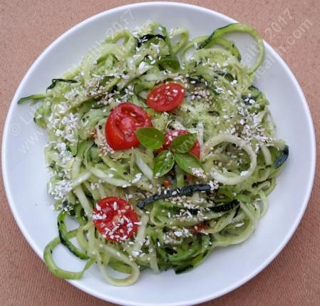 Pesto courgetti (2)