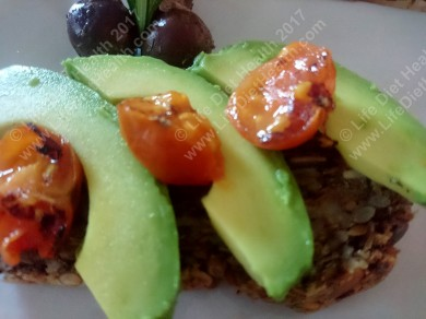 Avocado toast with olives & tomato... why not!