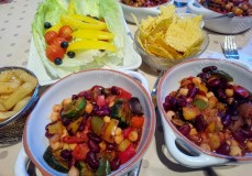 Delicious vegetable and bean chili