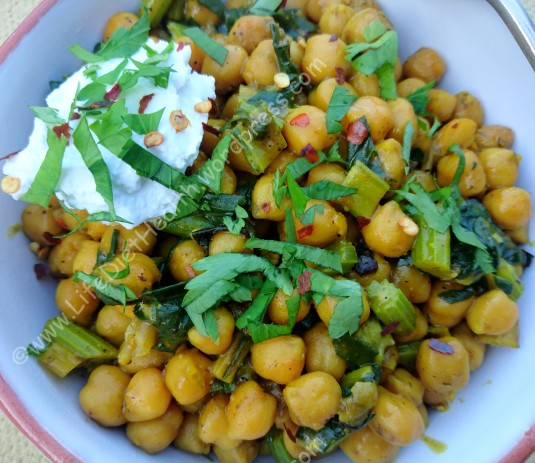 Chickpeas and chard (3)