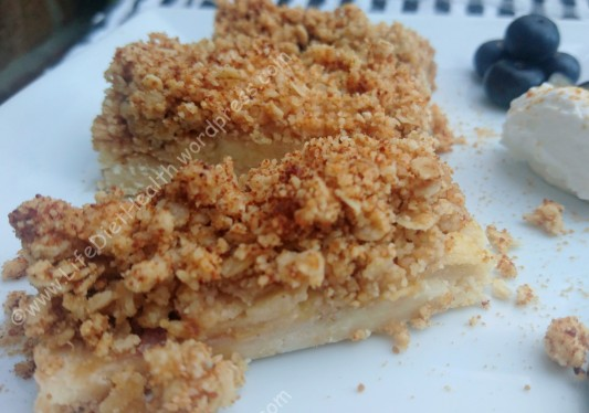 Apple Crumble Slices